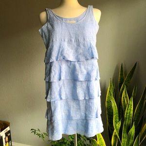 Michael Kors Linen Ruffled Dress